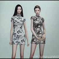 Mini Qipao Dress By Arltos