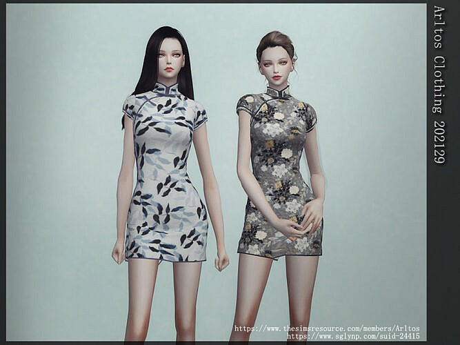 Mini Qipao Dress By Arltos