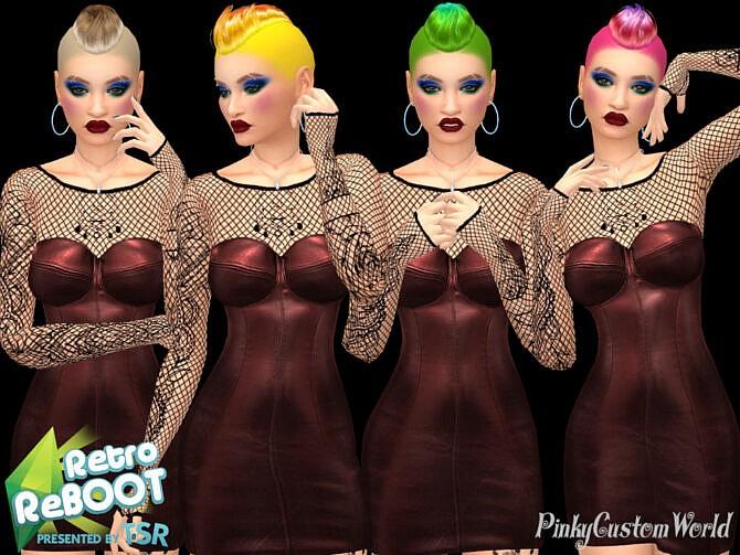 Sims 4 Fantasy Recolor of Nightcrawlers Strong hair by PinkyCustomWorld at TSR