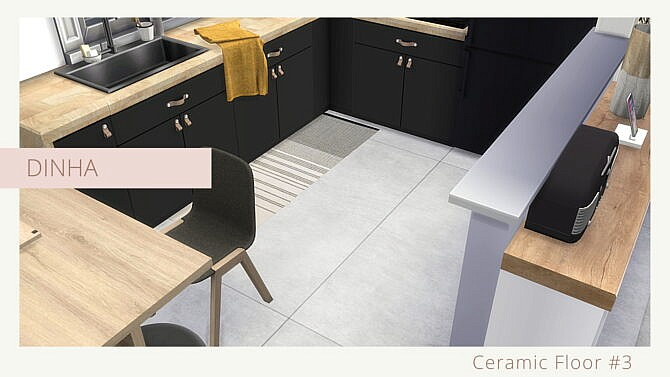 Sims 4 Ceramic Floor #3 at Dinha Gamer