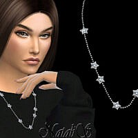 Diamond Star Chain Necklace By Natalis