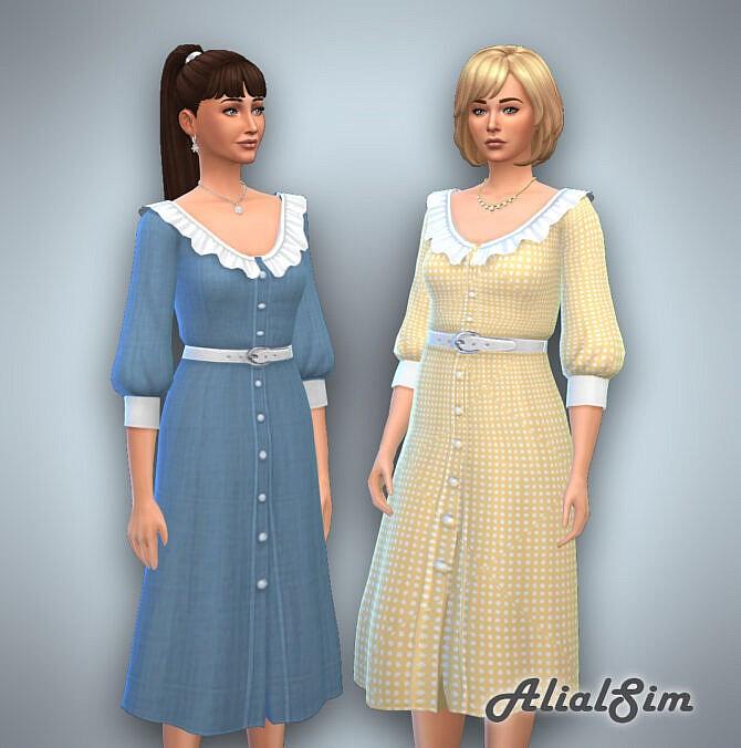 Sims 4 Love Letter Dress at Alial Sim