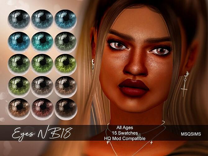 Sims 4 Eyes NB18 at MSQ Sims