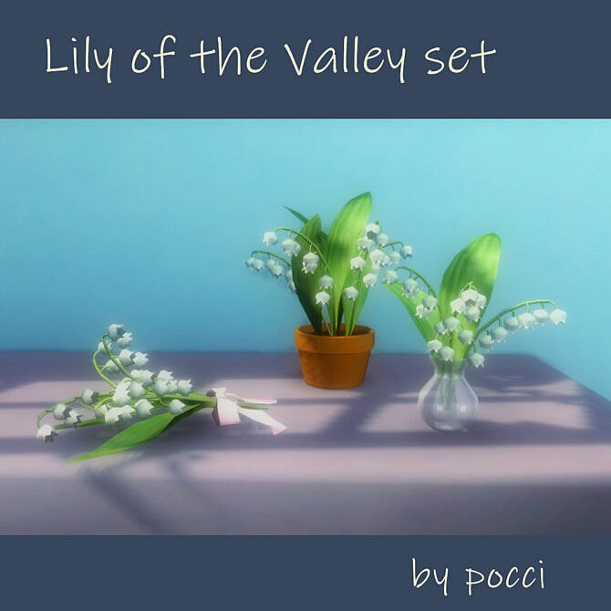 Sims 4 Lily of the Valley set by pocci at Garden Breeze Sims 4