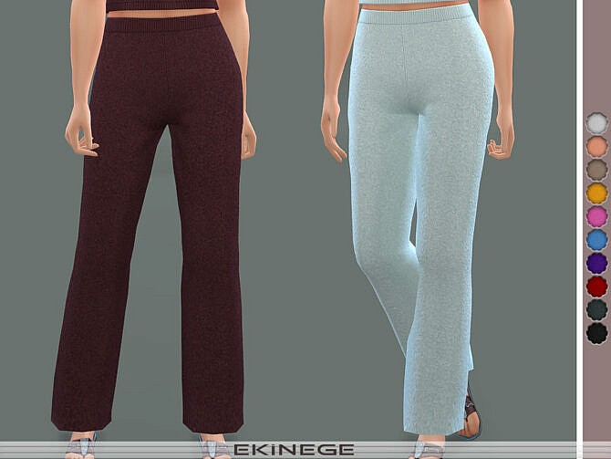 Sims 4 Knit Lounge Pants Set 24 2 by ekinege at TSR