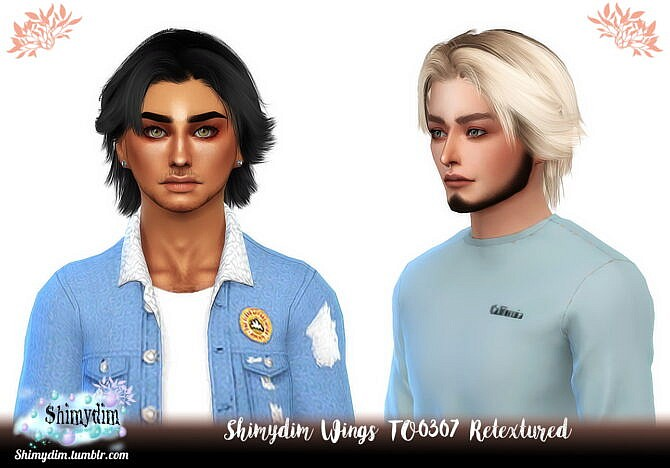 Sims 4 Wings TO0307 Hair Retexture at Shimydim Sims
