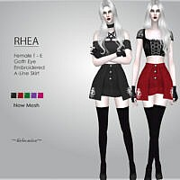 Rhea Mini Skirt By Helsoseira