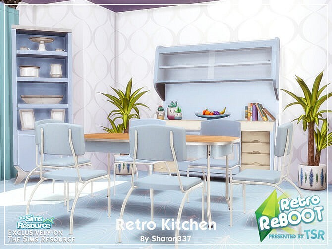 Sims 4 Retro Kitchen by sharon337 at TSR