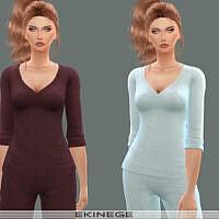 V-neck Sweater Top Set 24 1 By Ekinege