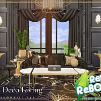 Retro Art Deco Living And Dining Room By Summerr Plays