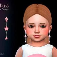 Sakura Toddler Earrings By Suzue