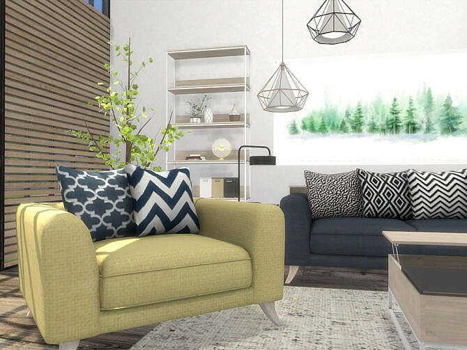 Sims 4 Chandler Living Room by Onyxium at TSR