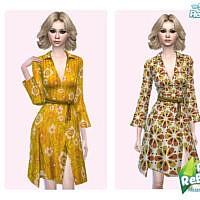 Retro 60s Flower Dress By Pinkfizzzzz