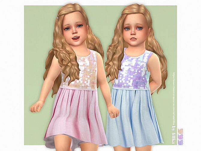 Sims 4 Miriam Dress for Toddler Girls by lillka at TSR