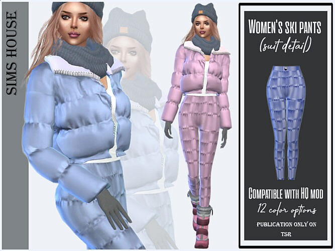 Women's Ski Pants (suit Detail) By Sims House