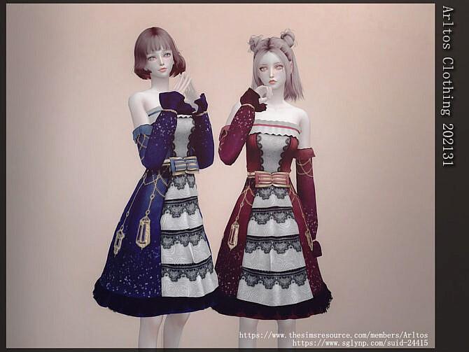 Sims 4 Dress 202131 by Arltos at TSR