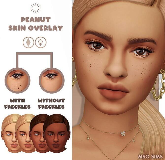 Sims 4 Peanut Skin Overlay at MSQ Sims