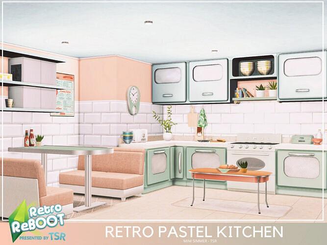 Retro Pastel Kitchen By Mini Simmer