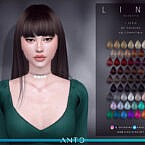 Lina Long Straight Hair With Fringe By Anto
