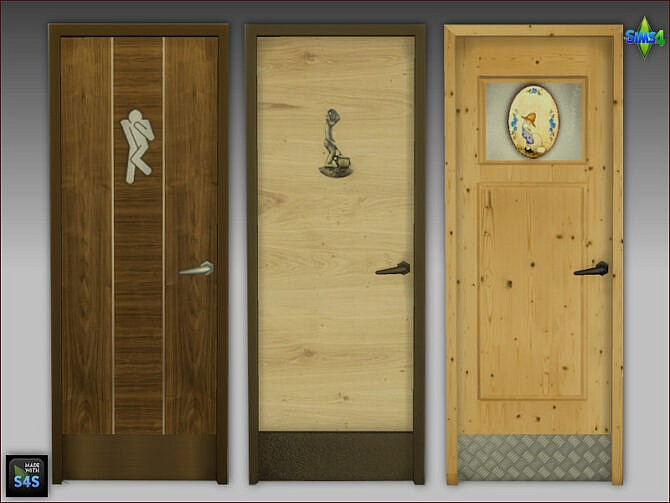 Sims 4 Toilet Doors by Mabra at Arte Della Vita