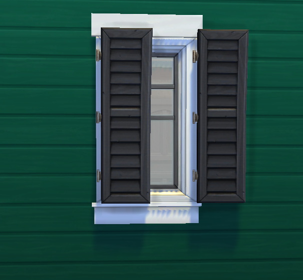 Sims 4 Very Separate Window Shutters by Qahne at TSR