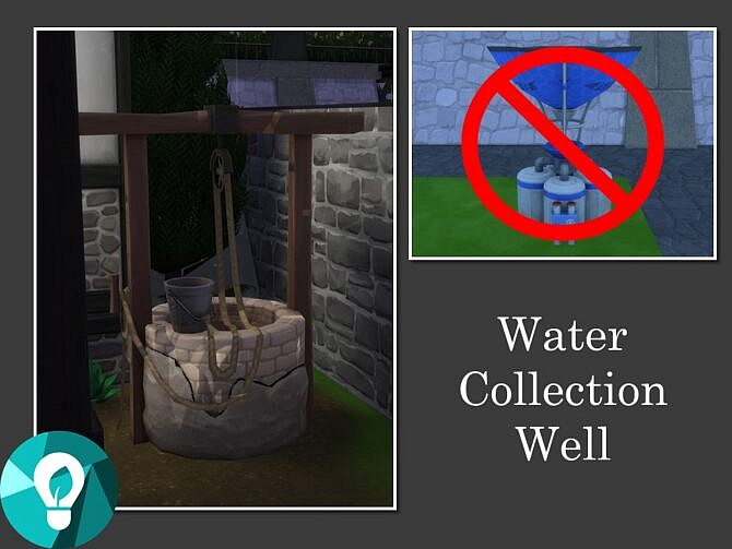 Sims 4 Water Collection Well by Teknikah at Mod The Sims 4