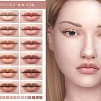 Natural Lipstick & Highlighter