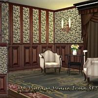 Vintage Venue Irma Wooden Paneling Wallpaper By Matomibotaki