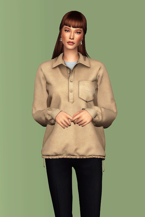 Sims 4 Collared Sweatshirt AF at Gorilla