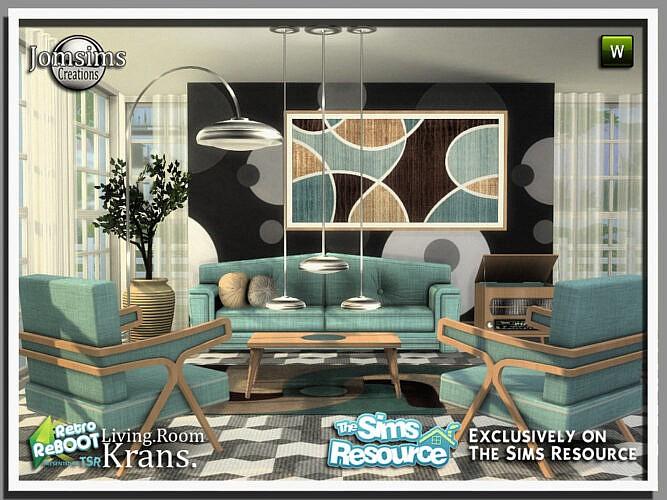 Retro Krans Living Room By Jomsims