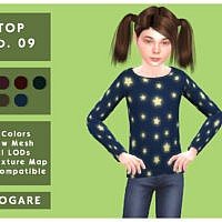 Long Sleeve Star T-shirt No.09 By Akogare