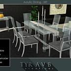 Acrylic Dining Set By Tyravb