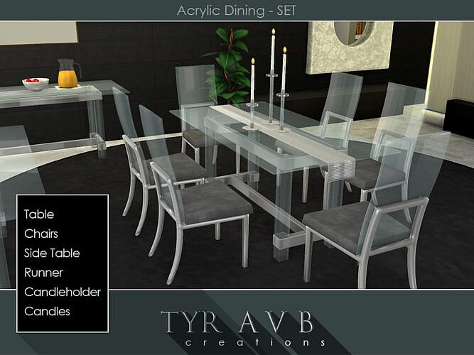 Acrylic Dining Set By Tyravb