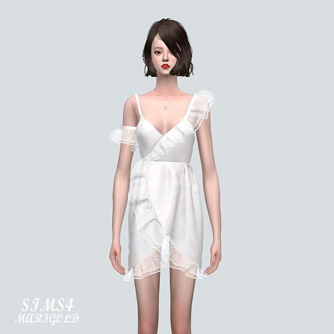 Sims 4 Ruffle Tulip Mini Dress at Marigold