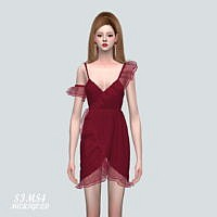 Ruffle Tulip Mini Dress