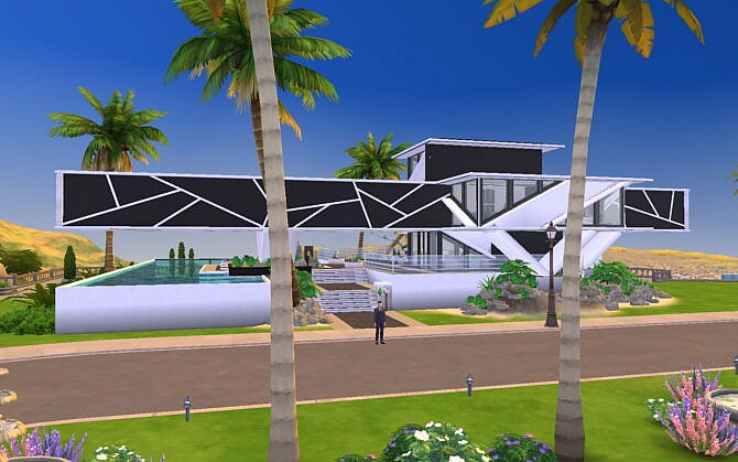 Sims 4 Lost Gravity Modern Futuristic Home by Cicada at Mod The Sims 4