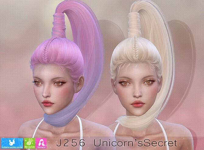 Sims 4 J256 Unicorns Secret Hair at Newsea Sims 4