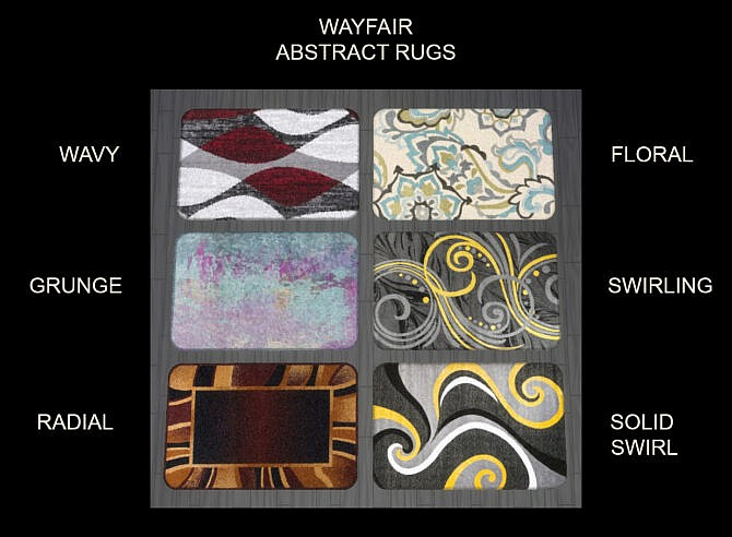 Wayfair Abstract Rugs 3x2 By Simmiller