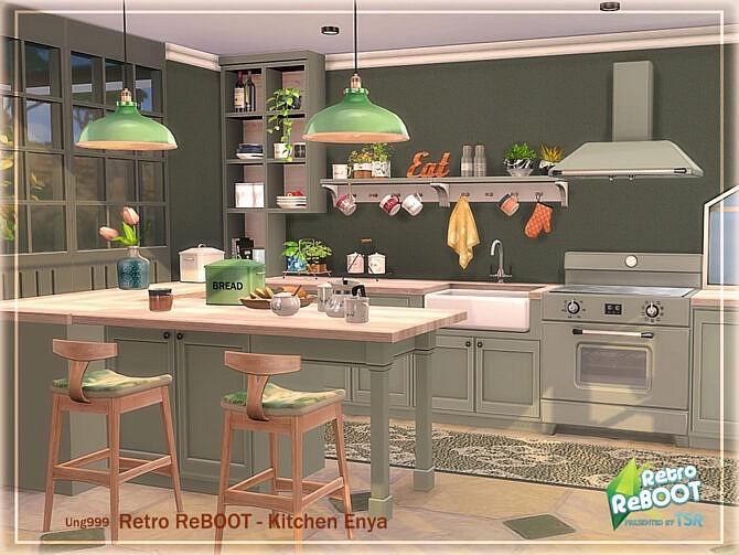 Sims 4 Retro Kitchen Enya Pt. 3 by ung999 at TSR