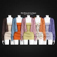 Mini Dress & Cardigan