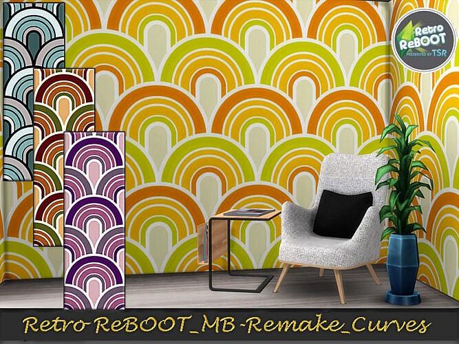 Mb Retro Remake Curves Wallpaper By Matomibotaki