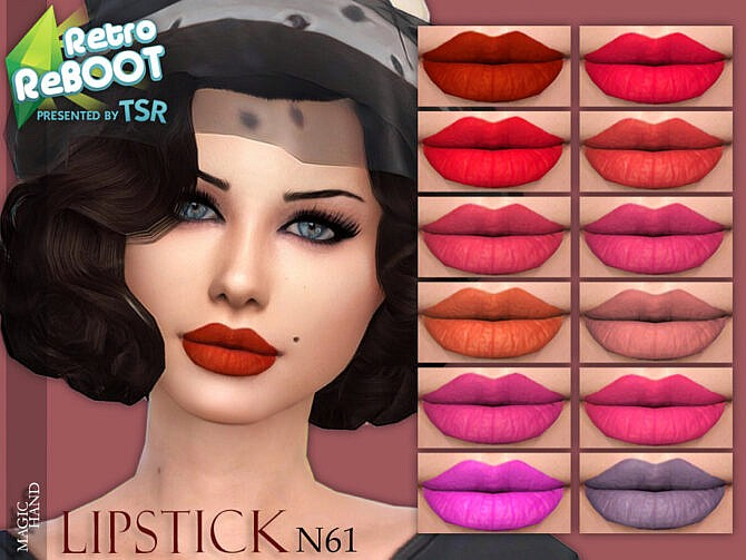 Sims 4 Retro Lipstick N61 by MagicHand at TSR
