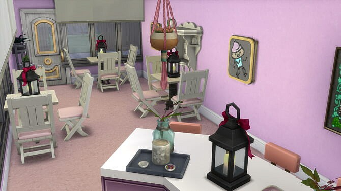 Sims 4 Retail Gelato shop, fashion store and bar by bradybrad7 at Mod The Sims 4
