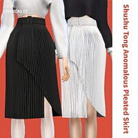 Shushu Tong Anomalous Pleated Skirt