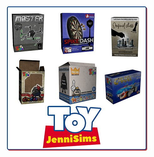 Toy Boxes (6 Items)