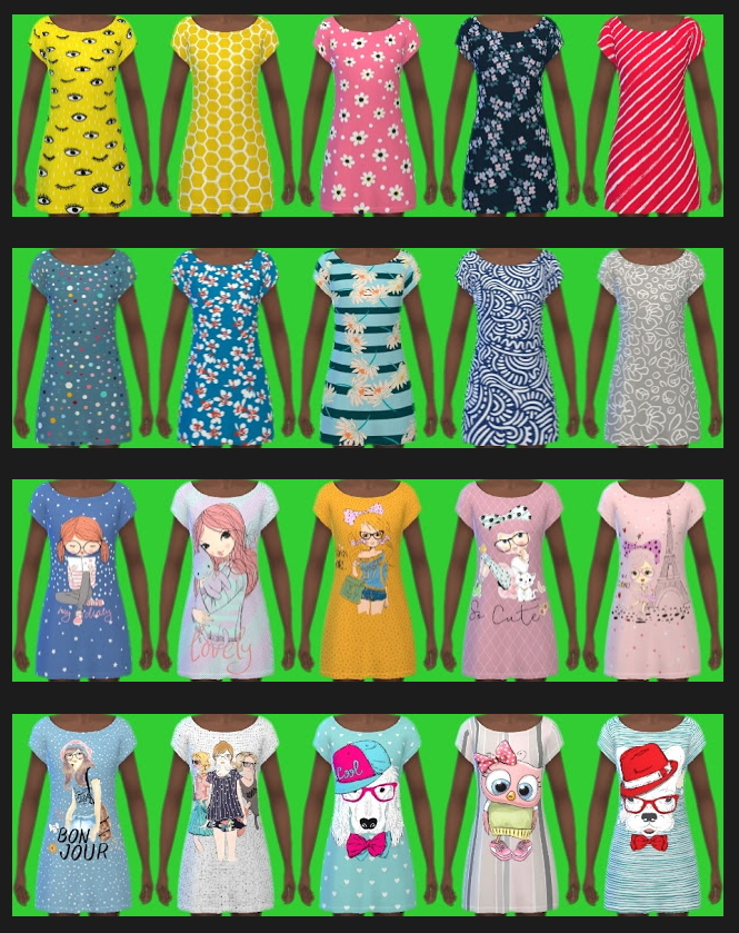 Sims 4 Get Together Dress for Kids Recolors at Annett's Sims 4 Welt