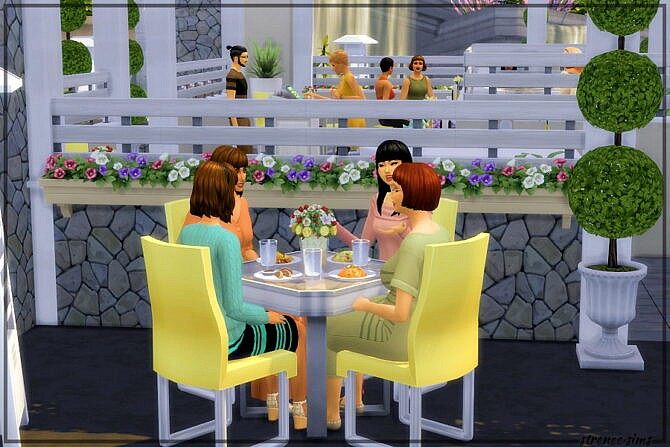 Sims 4 The Happy Cow Restaurant at Strenee Sims