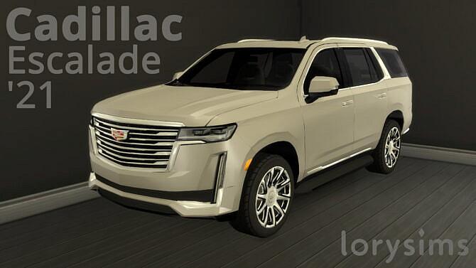 Sims 4 Cadillac Escalade '21 at LorySims
