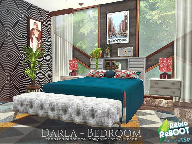 Sims 4 Retro Darla Bedroom by Rirann at TSR