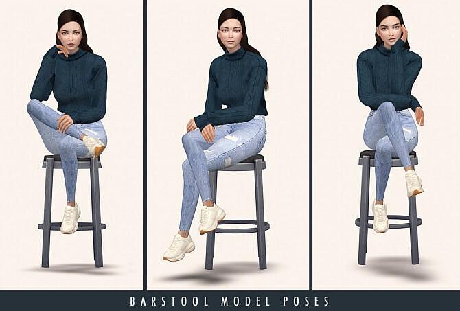 Sims 4 Barstool Model Poses at Lutessa